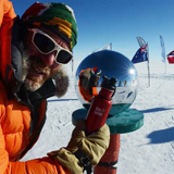 Extreme adventurer Peter Van Kets and environmental activist Braam Malherbe chose to take Klean Kanteen along with them in the recent Scott-Amundsen Centenary Race to the South Pole. Pictured above is Pete holding his Indicator Red KK at the pole. How 'cool' is that? - Tracey