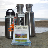 Our Klean Kanteen 'family' with us on Kauai for our Honeymoon - Djani and Laurie